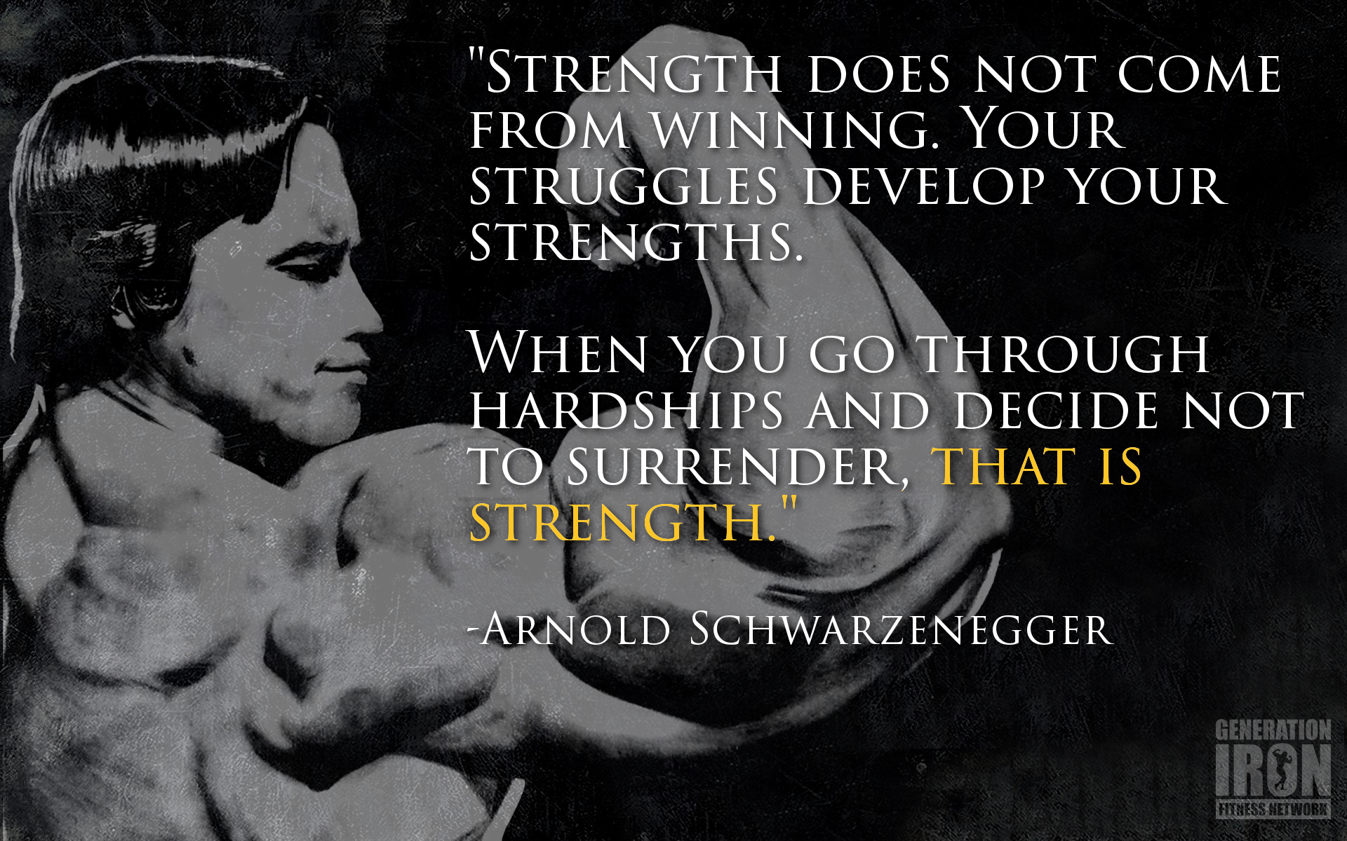 Quote Of The Week: Arnold Schwarzenegger Generation Iron