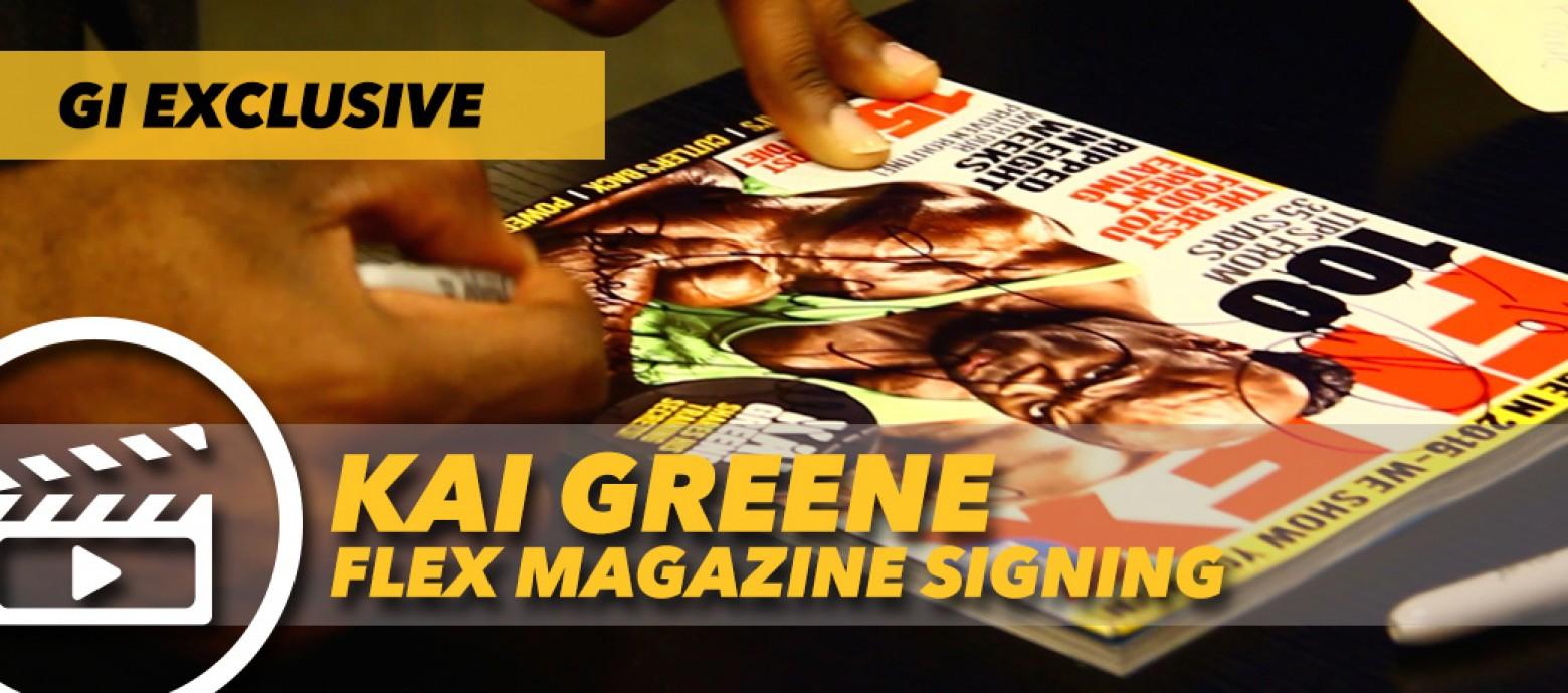 Watch Kai Greene Flex Magazine Signing Generation Iron