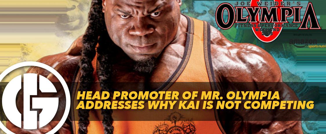 Generation Iron Kai Greene Mr. Olympia Promoter