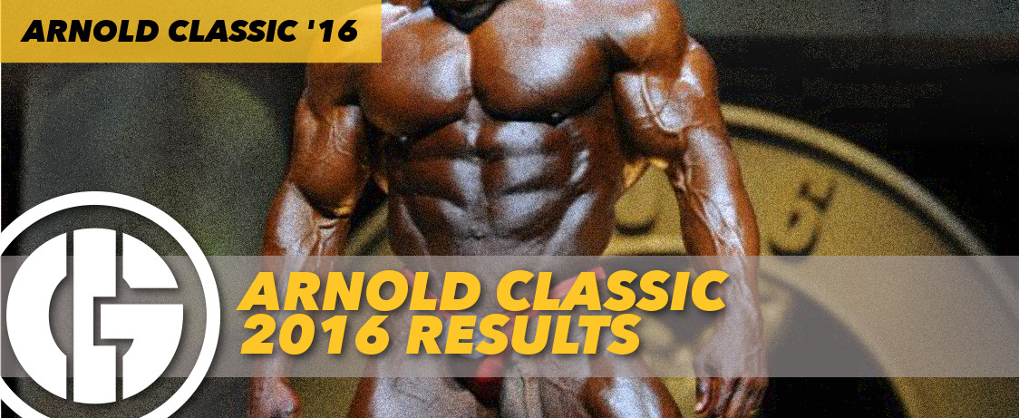 Generation Iron Arnold Classic 2016 Results