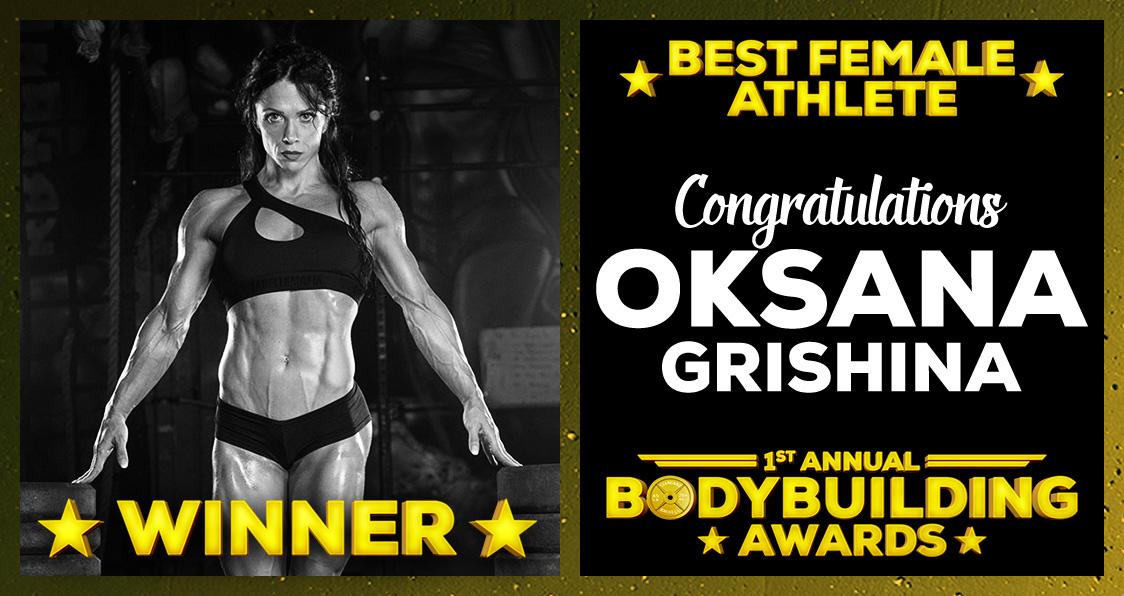 Best Female Athlete Oksana Grishina Bodybuilding Awards Generation Iron