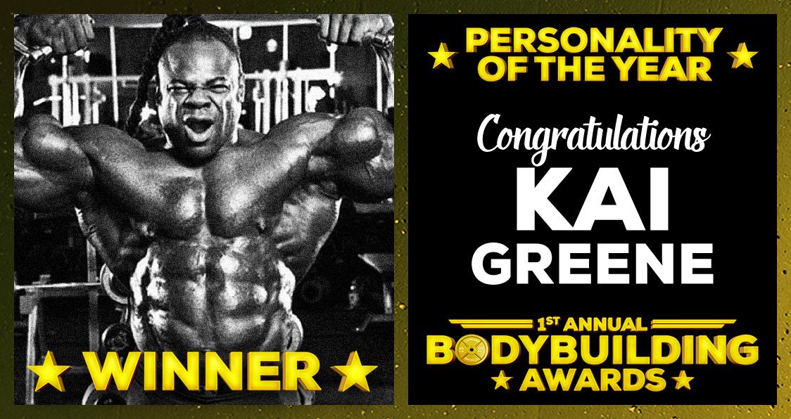 Kai Greene Personality Of The Year Bodybuilding Awards Generation Iron