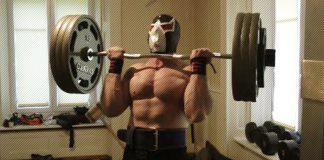 Masked Bodybuilder Curls 3 Plates Generation Iron