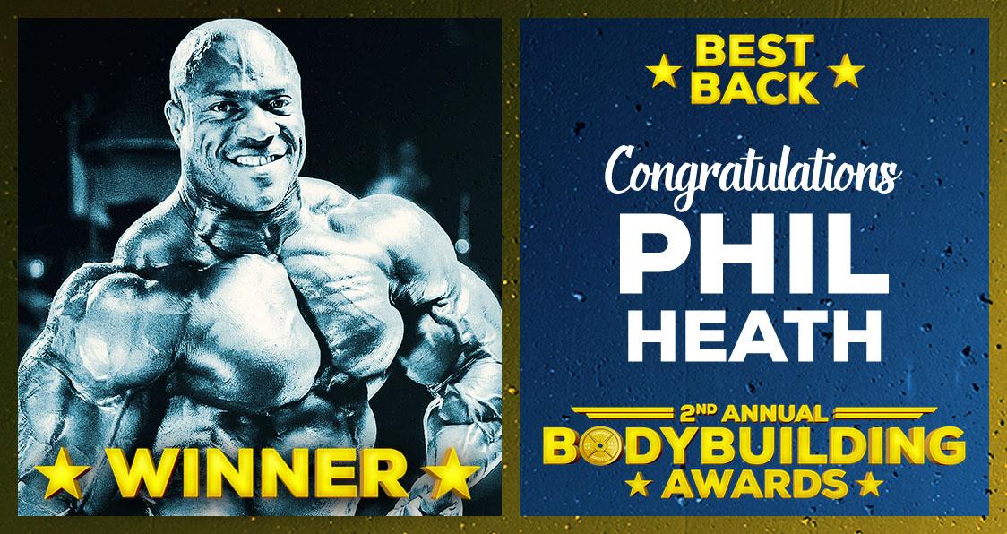 Phil Heath Best Back Bodybuilding Awards 2017