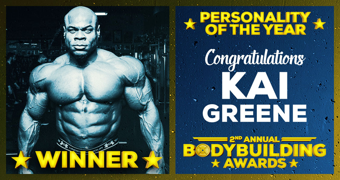 Kai Greene Personality Of The Year Bodybuilding Awards 2017