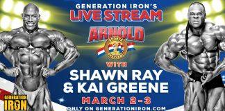 Arnold Classic 2018 Live Stream Generation Iron Shawn Ray Kai Greene