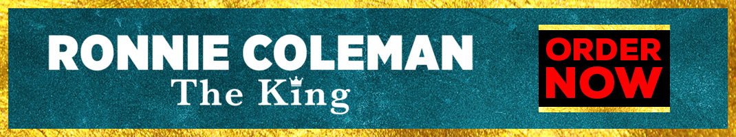 Ronnie Coleman The King Order Now Landing Page Banner