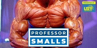 Professor Smalls Shredded Pro bodybuilder Generation Iron