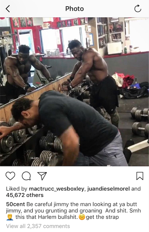 50 Cent Sparks Beef With Bodybuilder and Personal Trainer