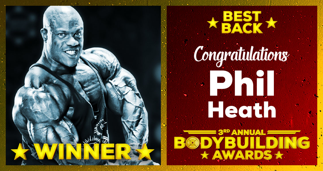 2018 Generation Iron Bodybuilding Awards Phil Heath Best Back