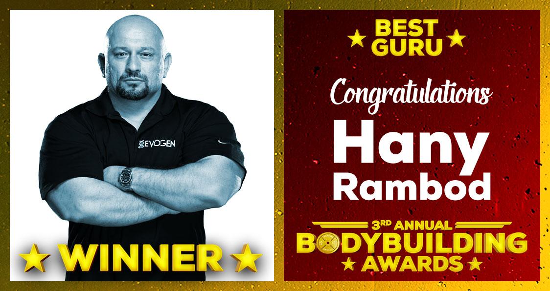 2018 Generation Iron Bodybuilding Awards Hany Rambod Best Guru