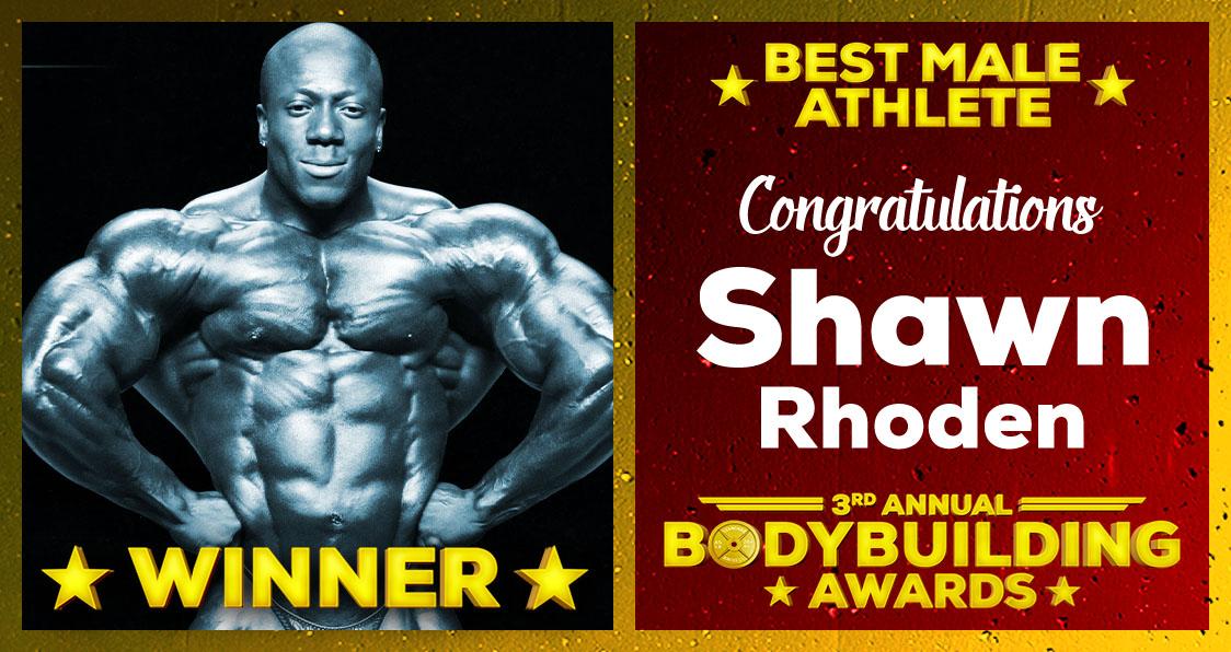 2018 Generation Iron Bodybuilding Awards Shawn Rhoden Best Male Athlete