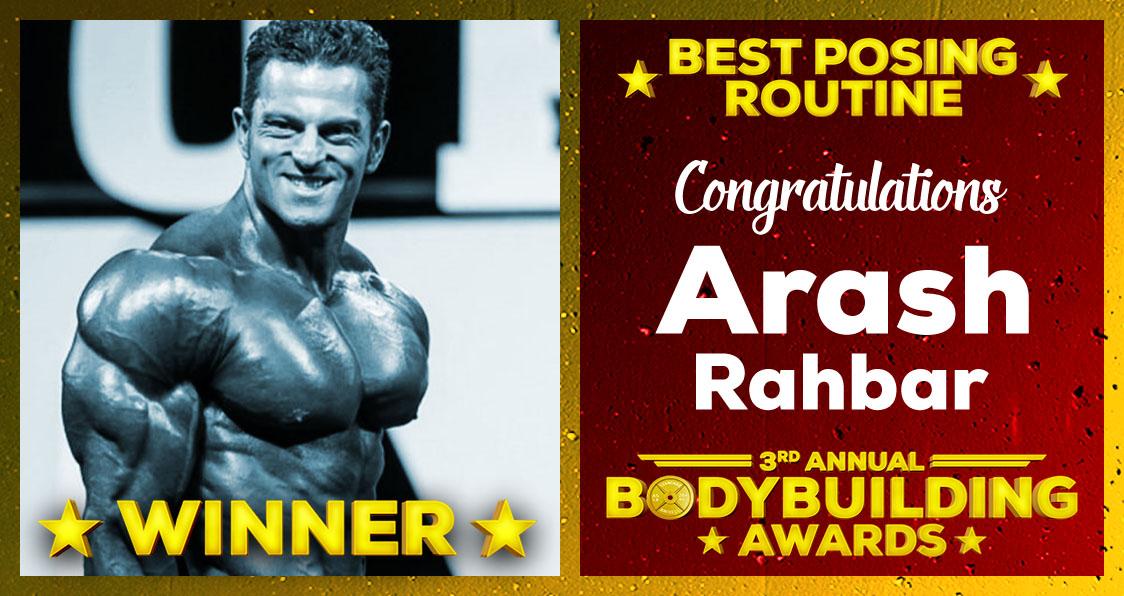 2018 Generation Iron Bodybuilding Awards Arash Rahbar Best Posing Routine