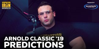 Arnold Classic 2019 Predictions Generation Iron