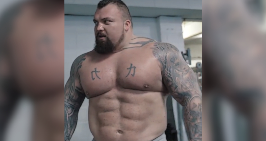 Eddie Hall Shows Off Shredded Abs In Recent Transformation Pic