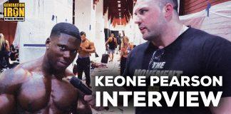 Keone Pearson Interview New York Pro 2019 Generation Iron