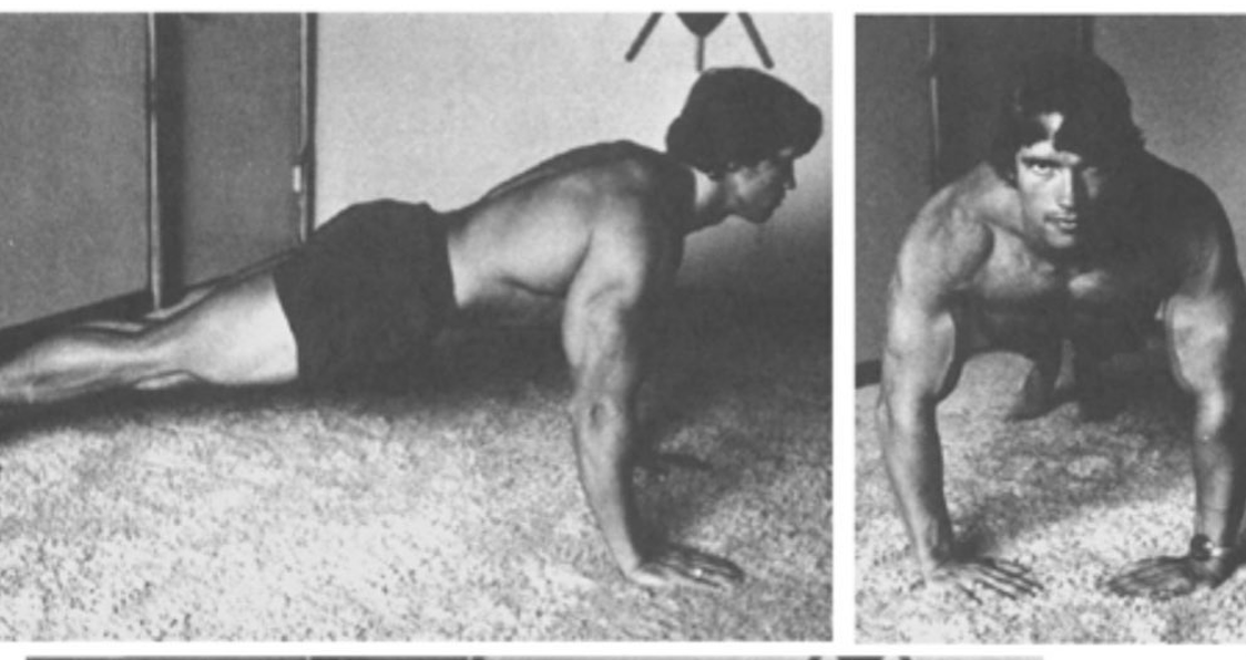 Arnold Schwarzenegger Shares Old Home Workout Routines