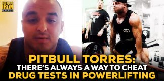 Pitbull Torres powerlifting drug test
