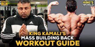 King Kamali back workout guide King's World