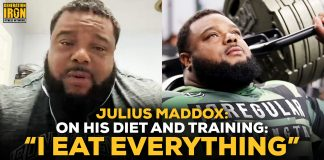 Julius Maddox powerlifting diet and workout routine
