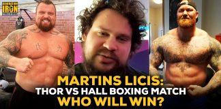 Martins Licis Hafthor Bjornsson vs Eddie Hall boxing