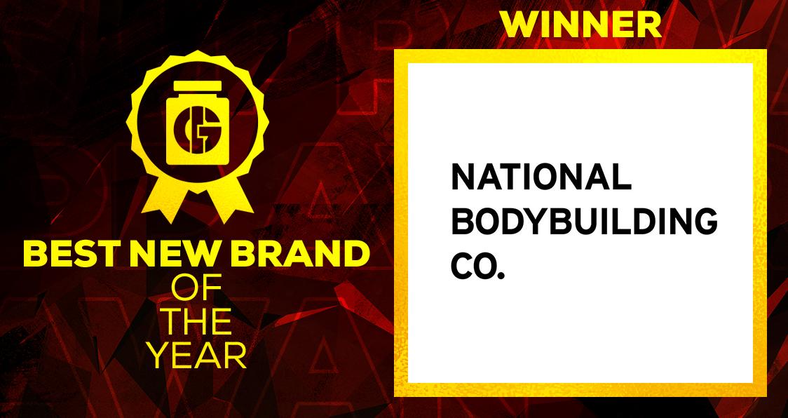 Generation Iron Supplement Awards 2020 Best New Brand National Bodybuilding Co.