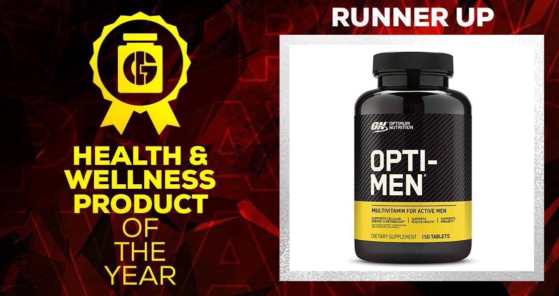 Generation Iron Supplement Awards Health and Wellness Opti-Men Multivitamin