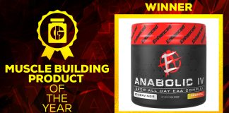 Generation Iron Supplement Awards Muscle Building Product Winner Anabolic IV