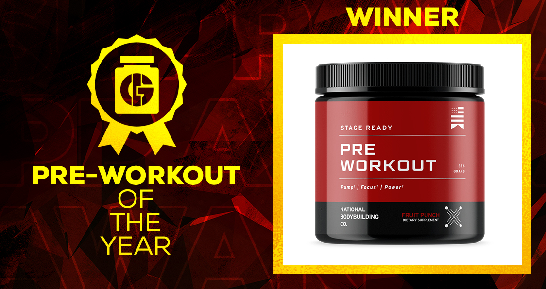 Generation Iron Supplement Awards Pre-Workout National Bodybuilding Co.