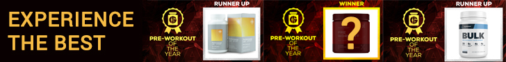 pre-workout Generation Iron supplement awards
