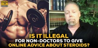 Rick Collins Online Steroid Advice Illegal?