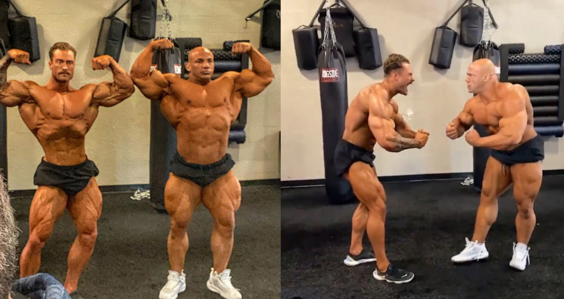 2020 Olympia Champions Big Ramy and Chris Bumstead Have a Posedown