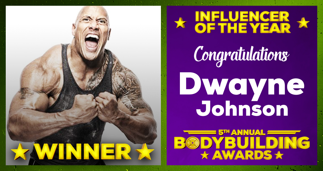 Dwayne The Rock Johnson Influencer Of The Year 2020