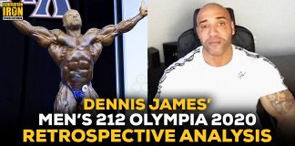Dennis James Men's 212 Olympia 2020 Results