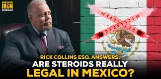 Rick Collins bodybuilding steroids mexico