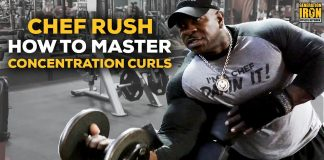 Chef Rush workout concentration curls