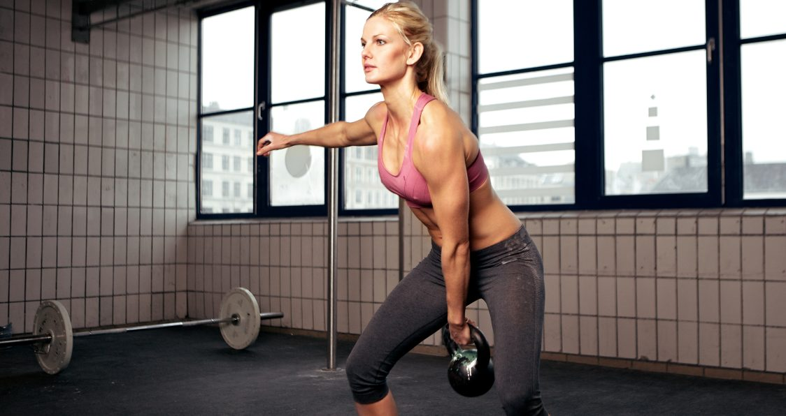 kettlebell clean and jerk