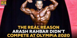 Arash Rahbar Reason No Compete Olympia 2020
