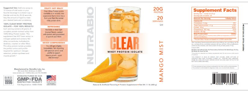 NutraBio_Clear Isolate_Label