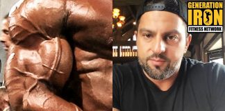 Arash Rahbar bodybuilder pump