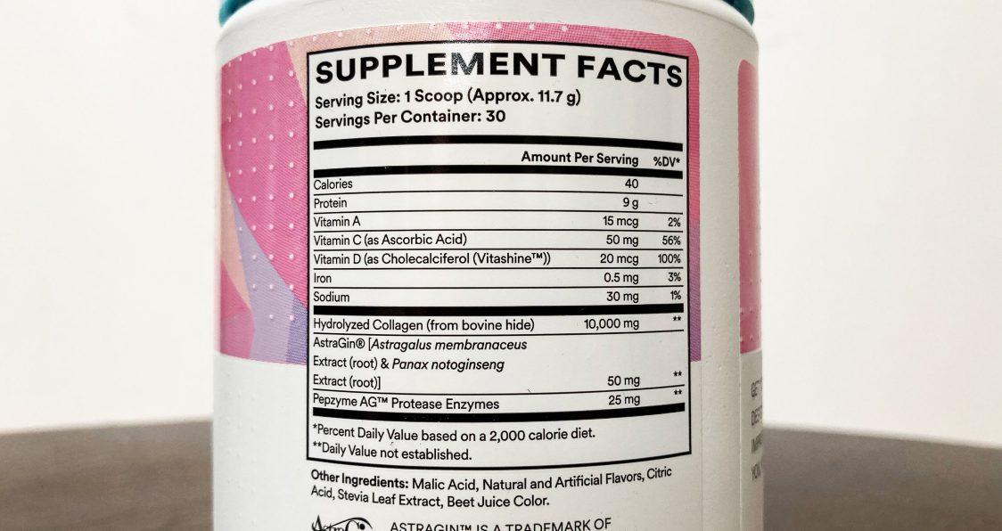 Cira Nutrition_Glow Getter Collagen_Ingredients