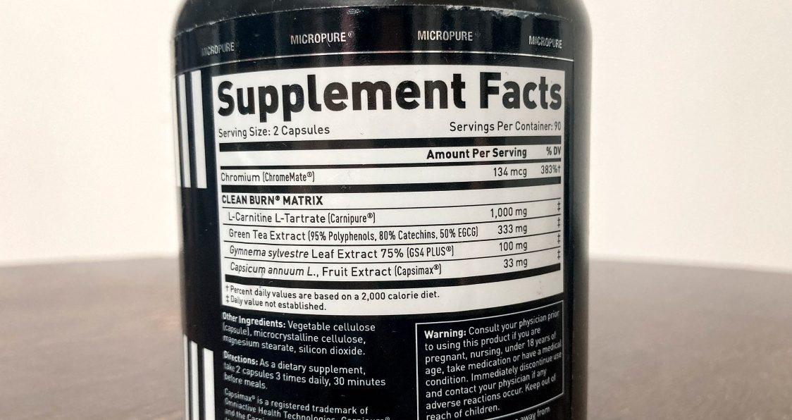 Kaged Muscle_Clean Burn_Ingredients