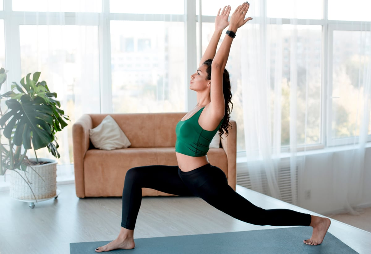 Lunge at home