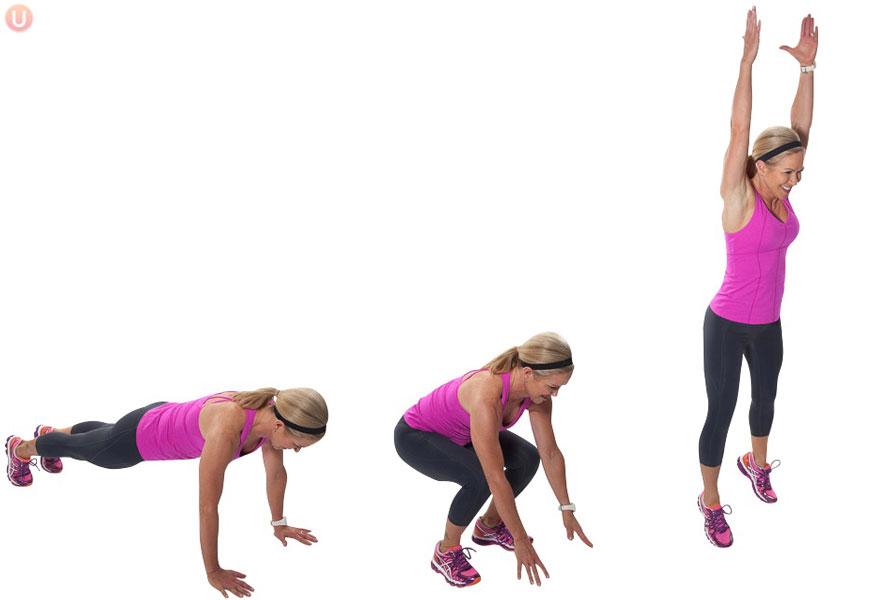 Burpee home workout