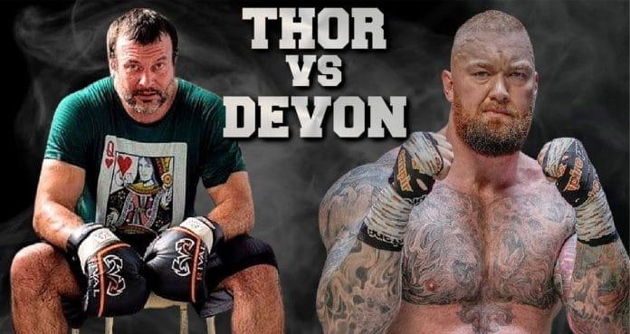 Hafhtor Bjornsson Vs Devon Larratt boxing